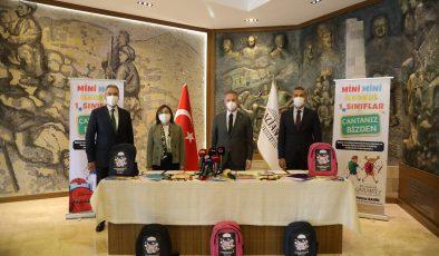 İLKOKUL 1'İNCİ SINIF ÖĞRENCİLERİN ÇANTALARI BÜYÜKŞEHİR'DEN!
