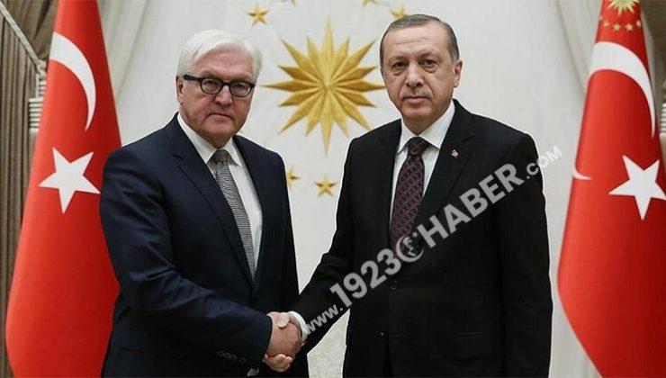 Son dakika… Cumhurbaşkanı Erdoğan, Almanya Cumhurbaşkanı ile görüştü