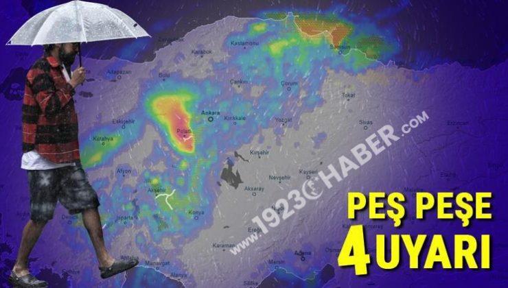 Son dakika… Meteoroloji'den peş peşe 4 uyarı! Çok sayıda il için sarı alarm