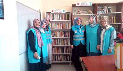 Yarımbağ Köy okulunda kütüphane oluşturuldu